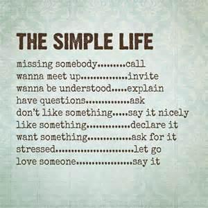 plain simple life